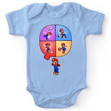 Funny  Baby Bodysuit - Mario and Wii Fit ( Parody) (Ref:783)
