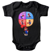 Body bébé  parodique Mario et Wii Fit : Régime virtuel... (Parodie )