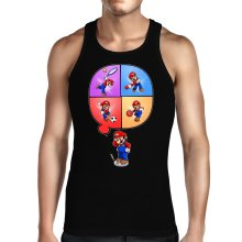 Funny  Tank Top - Mario and Wii Fit ( Parody) (Ref:783)