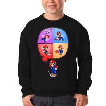 Sweat-shirts  parodique Mario et Wii Fit : Régime virtuel... (Parodie )