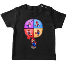 T-shirt bébé  parodique Mario et Wii Fit : Régime virtuel... (Parodie )