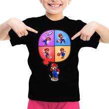T-shirt Enfant Fille  parodique Mario et Wii Fit : Régime virtuel... (Parodie )