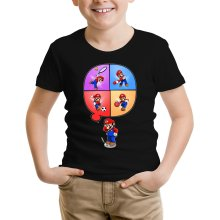 Funny  Kids T-Shirt - Mario and Wii Fit ( Parody) (Ref:783)