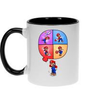 Mug  parodique Mario et Wii Fit : Régime virtuel... (Parodie )