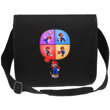 Funny  Canvas Messenger Bag - Mario and Wii Fit ( Parody) (Ref:783)