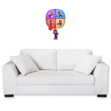 Sticker Mural  parodique Mario et Wii Fit : Régime virtuel... (Parodie )