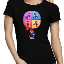 T-shirts Femmes  parodique Mario et Wii Fit : Régime virtuel... (Parodie )