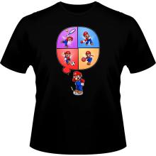 T-shirts  parodique Mario et Wii Fit : Régime virtuel... (Parodie )