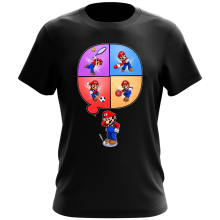 Funny  T-Shirt - Mario and Wii Fit ( Parody) (Ref:783)