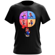 T-shirt  parodique Mario et Wii Fit : Régime virtuel... (Parodie )