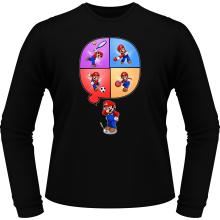 T-Shirts à manches longues  parodique Mario et Wii Fit : Régime virtuel... (Parodie )