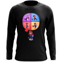 T-Shirt à manches longues  parodique Mario et Wii Fit : Régime virtuel... (Parodie )