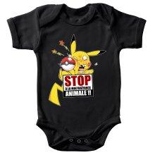 Body bébé  parodique Pikachu : Stop à la Maltraitance animale !! (Parodie )