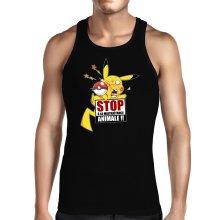 Débardeurs  parodique Pikachu : Stop à la Maltraitance animale !! (Parodie )