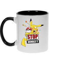 Mugs  parodique Pikachu : Stop à la Maltraitance animale !! (Parodie )
