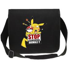 Sacs bandoulière Canvas  parodique Pikachu : Stop à la Maltraitance animale !! (Parodie )