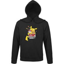 Sweat à capuche  parodique Pikachu : Stop à la Maltraitance animale !! (Parodie )