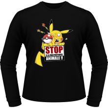 T-Shirts à manches longues  parodique Pikachu : Stop à la Maltraitance animale !! (Parodie )