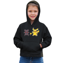 Sweat à capuche Enfant  parodique Pikachu mode Super Saiyan : Super Sourijin !! (Parodie )