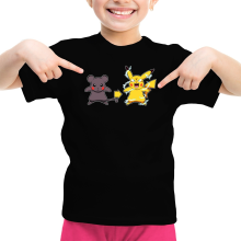 T-shirt Enfant Fille  parodique Pikachu mode Super Saiyan : Super Sourijin !! (Parodie )