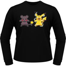 T-Shirts à manches longues  parodique Pikachu mode Super Saiyan : Super Sourijin !! (Parodie )