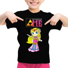 T-shirt Enfant Fille  parodique La Princesse Zelda : The Legend of...ME ! (Parodie )