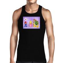 Débardeurs  parodique Super Mario, Princesse Peach et Bowser : Un coeur brisé ! (Parodie )