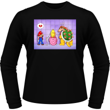 T-Shirts à manches longues (French Days)  parodique Super Mario, Princesse Peach et Bowser : Un coeur brisé ! (Parodie )