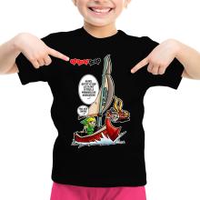 T-shirt Enfant Fille  parodique Link - The Wind waker : Un elfe à la mer.... :) (Parodie )