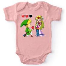 Body bébé (Filles)  parodique Link et la Princesse Zelda : Un héros offrant son coeur à sa belle princesse... (Parodie )
