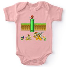 Funny  Baby Bodysuit (Baby Girls) - Mario, Bowser, Bowser Jr and Koopa Troopa ( Parody) (Ref:469)