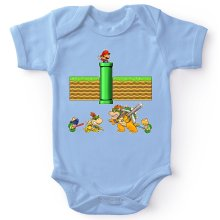 Funny  Baby Bodysuit - Mario, Bowser, Bowser Jr and Koopa Troopa ( Parody) (Ref:469)