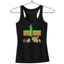 Débardeurs  parodique Mario, Bowser, Bowser Jr et Koopa Troopa : Un mauvais tuyau... (Parodie )