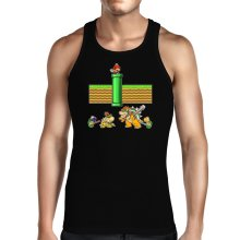 Funny  Tank Top - Mario, Bowser, Bowser Jr and Koopa Troopa ( Parody) (Ref:469)