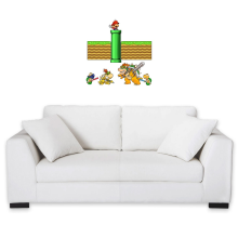 Funny  Wall Sticker - Mario, Bowser, Bowser Jr and Koopa Troopa ( Parody) (Ref:469)