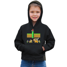 Funny  Kids Hoodie - Mario, Bowser, Bowser Jr and Koopa Troopa ( Parody) (Ref:469)