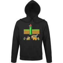 Sweats à capuche  parodique Mario, Bowser, Bowser Jr et Koopa Troopa : Un mauvais tuyau... (Parodie )