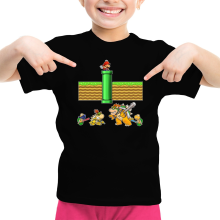 Funny  Girls Kids T-shirt - Mario, Bowser, Bowser Jr and Koopa Troopa ( Parody) (Ref:469)