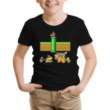 Funny  Kids T-Shirt - Mario, Bowser, Bowser Jr and Koopa Troopa ( Parody) (Ref:469)