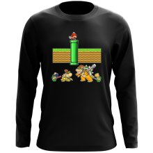 Funny  Long Sleeve Top - Mario, Bowser, Bowser Jr and Koopa Troopa ( Parody) (Ref:469)