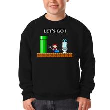 Sweat-shirts (French Days)  parodique Super Mario : Un plombier en plein boulot... (Parodie )