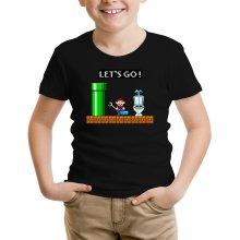 T-shirts (French Days)  parodique Super Mario : Un plombier en plein boulot... (Parodie )