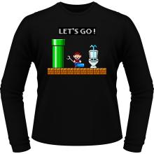 T-Shirts à manches longues (French Days)  parodique Super Mario : Un plombier en plein boulot... (Parodie )