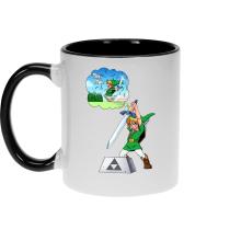 Mugs  parodique Link et Excalibur : Une épée bien mal exploitée... ^^ (Parodie )