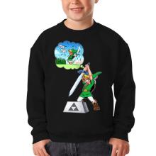Sweat-shirts  parodique Link et Excalibur : Une épée bien mal exploitée... ^^ (Parodie )