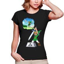 T-shirts Femmes  parodique Link et Excalibur : Une épée bien mal exploitée... ^^ (Parodie )