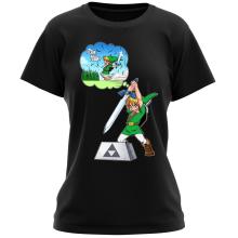 T-shirts Femmes (French Days)  parodique Link et Excalibur : Une épée bien mal exploitée... ^^ (Parodie )