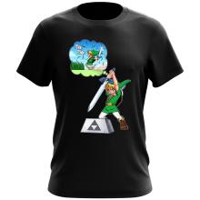 T-shirt  parodique Link et Excalibur : Une épée bien mal exploitée... ^^ (Parodie )