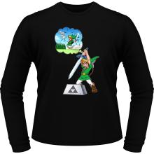T-Shirts à manches longues  parodique Link et Excalibur : Une épée bien mal exploitée... ^^ (Parodie )