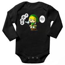 Body bébé manches longues  parodique Link et la Fée Navi : Une fée pratique mais agaçante... (Parodie )